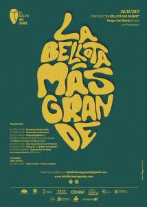 Cartel Oficial Concurso La Bellota más Grande 2017